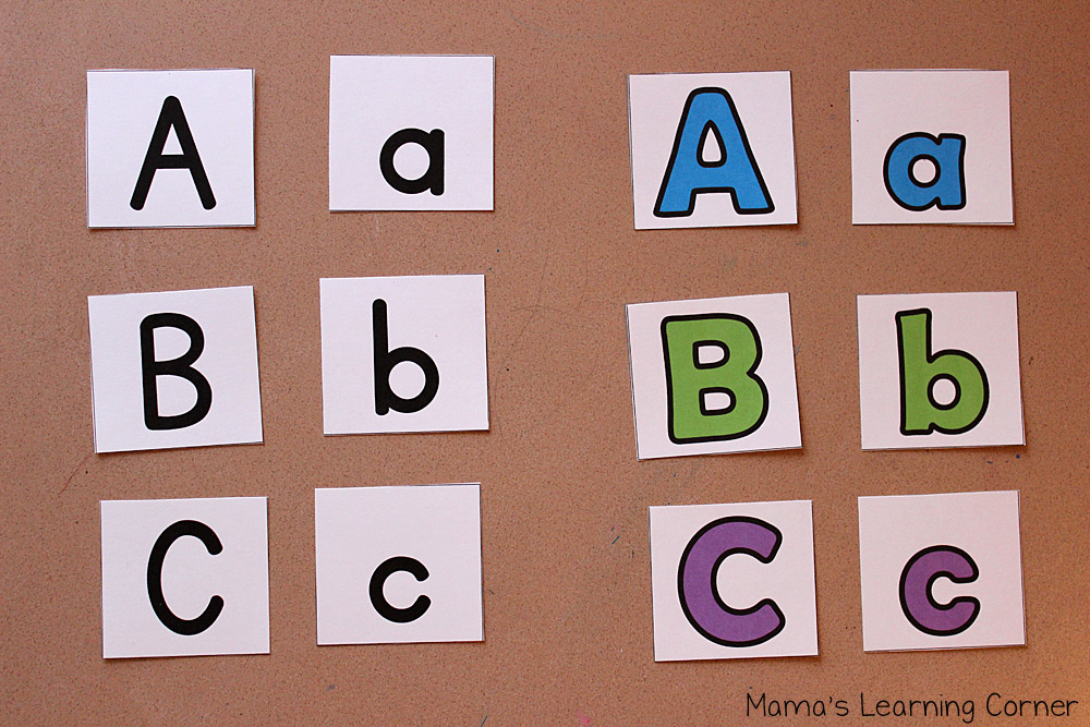 ABC Puzzle Cards for Preschoolers