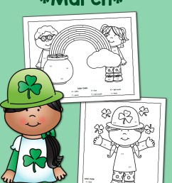 Color by Number Worksheets for March: St. Patrick's Day! - Mamas Learning  Corner [ 1500 x 1000 Pixel ]