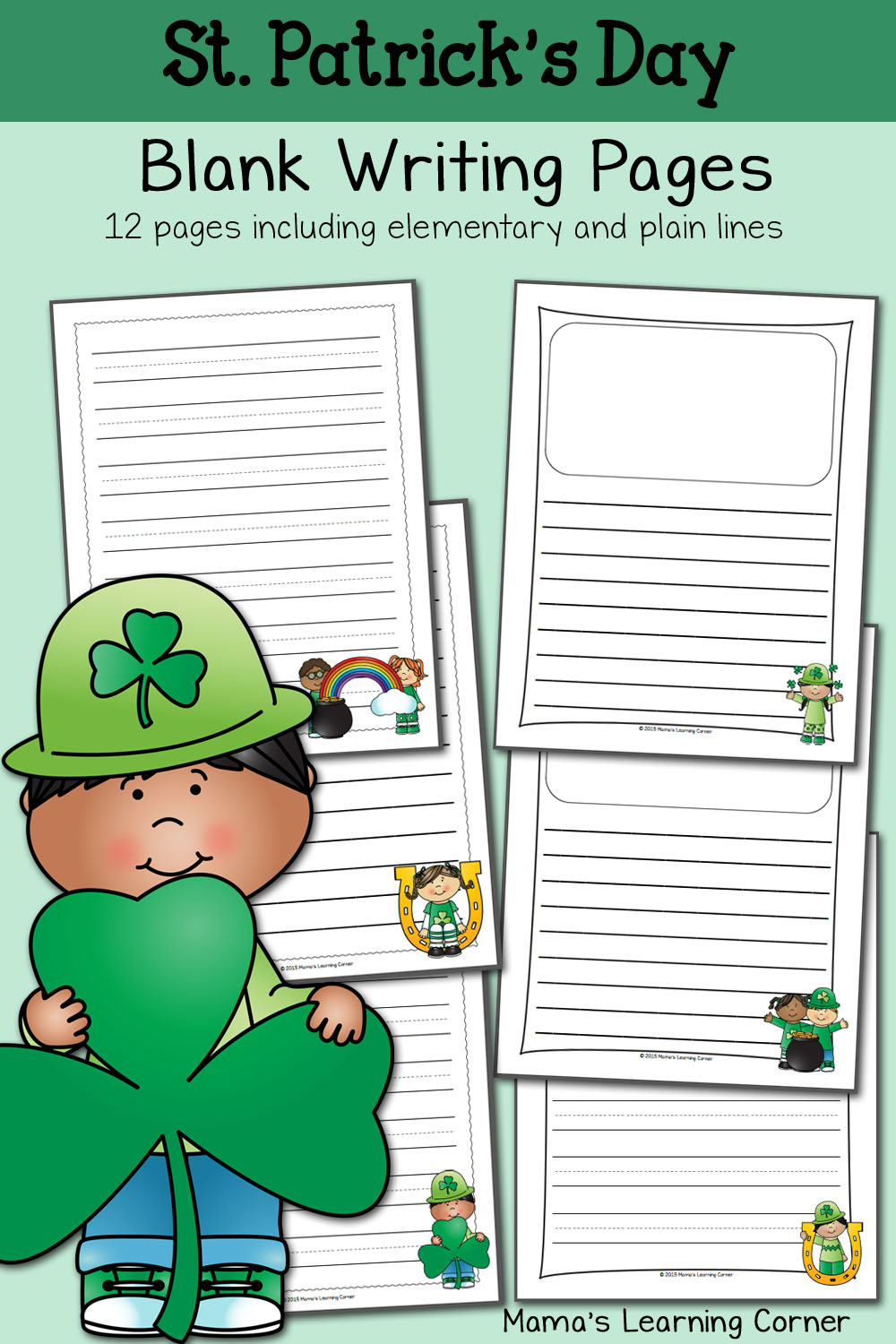 St Patricks Day Blank Writing Pages