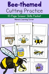 Bee Cutting Practice Worksheets: The Bee Tree!