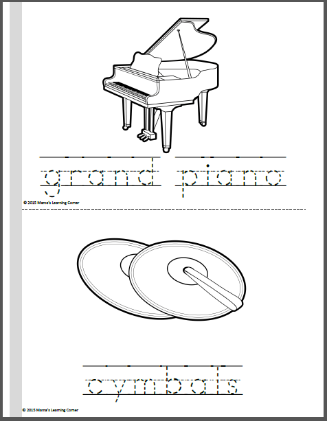 Orchestra Coloring Pages