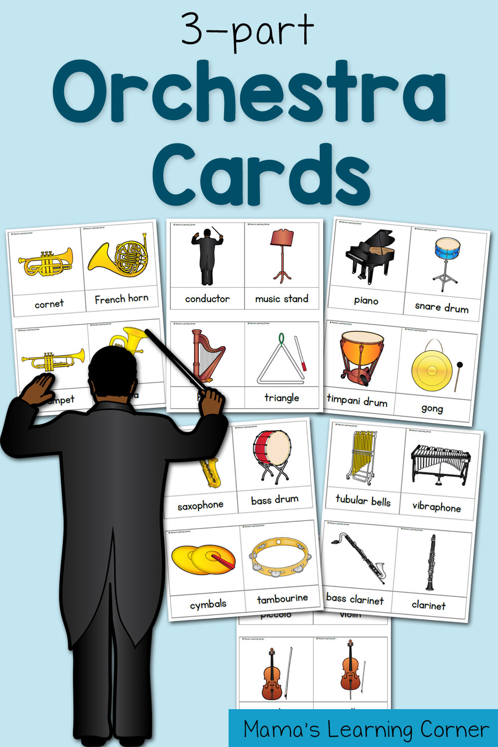 3 Part Cards Orchestra Cards Mamas Learning Corner