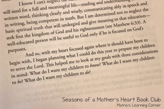 Seasons of a Mothers Heart Book Club Chapter 5 My Children