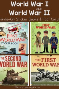 World War I and World War II Resources on Sale: Sticker Books and Fact Cards!