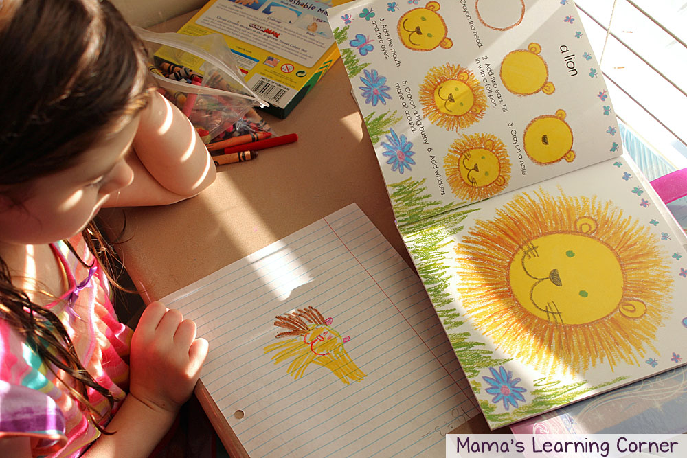 Activity Baskets for Kids:  I Can Draw Animals Lion