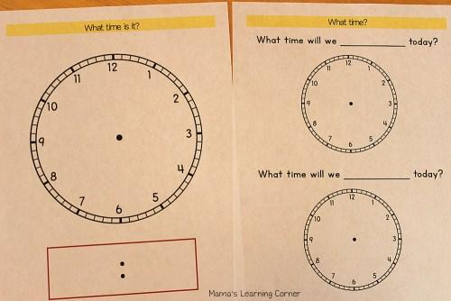 Kindergarten Calender Notebook: Telling Time