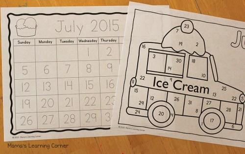 Preschool Calendar Notebook Months of the Year