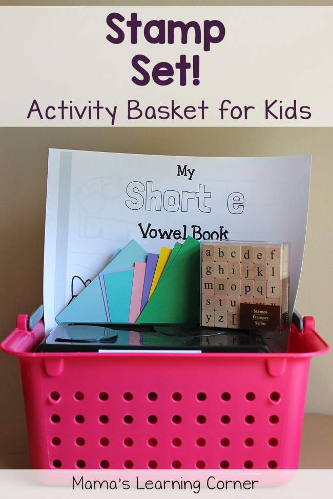 Activity Baskets for Kids:  Stamp Set and CVC books