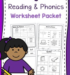 Kindergarten Reading and Phonics Worksheet Packet - Mamas Learning Corner [ 1500 x 1000 Pixel ]
