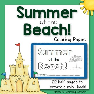 Summer at the Beach Coloring Pages