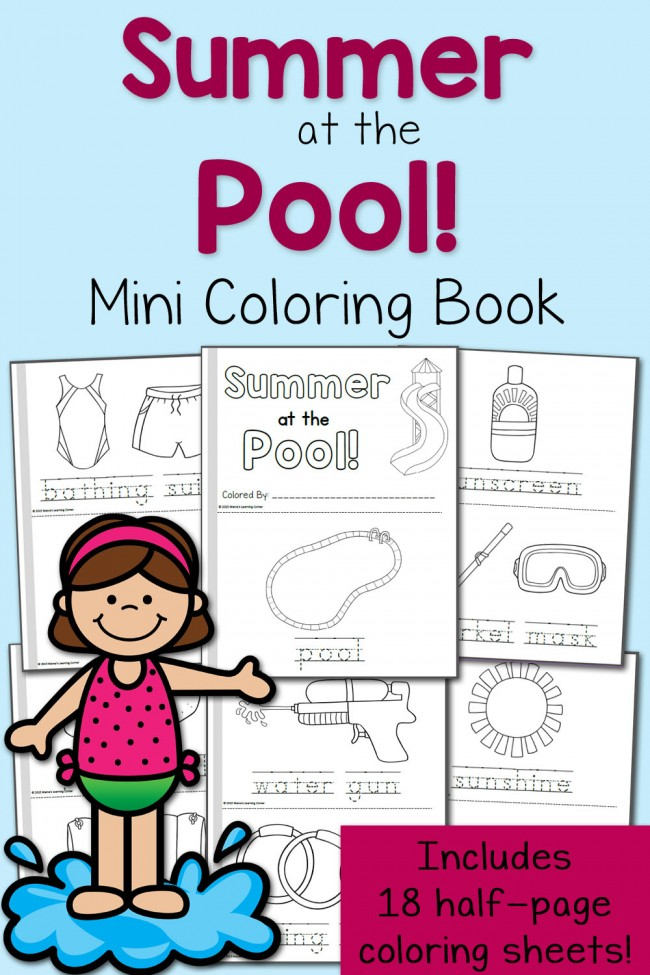 Summer Coloring Pages: At the Pool!