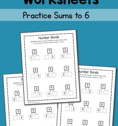 Number Bond Worksheets: Sums to 6 - Mamas Learning Corner [ 1500 x 1000 Pixel ]