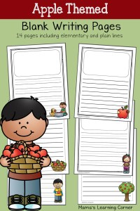 Apple Blank Writing Pages