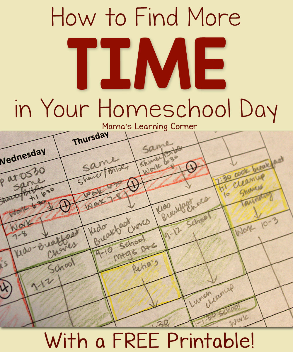 How to Find More Time in Your Homeschool Day - Mamas ...