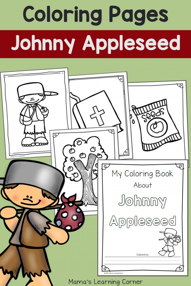 graphic about Johnny Appleseed Printable Story identified as Johnny Appleseed Printables and System Research Elements - Mamas