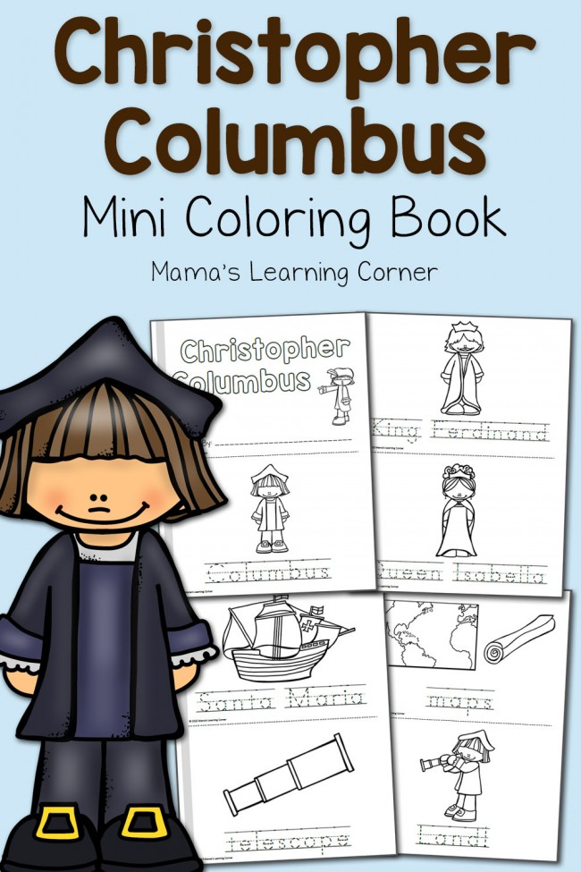 Christopher Columbus Coloring Pages - Mamas Learning Corner