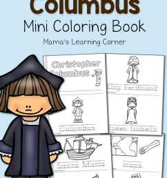 Christopher Columbus Coloring Pages - Mamas Learning Corner [ 1500 x 1000 Pixel ]