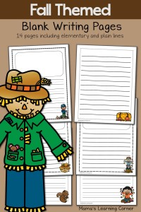 Fall Blank Writing Pages