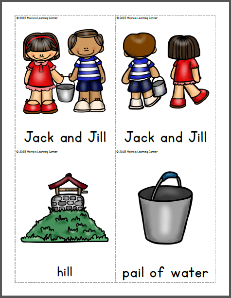 Jack and Jill Nursery Rhyme Packet