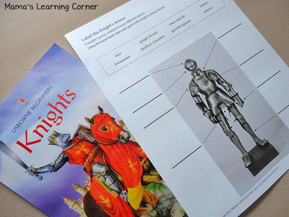 Knight Vocabulary Worksheet