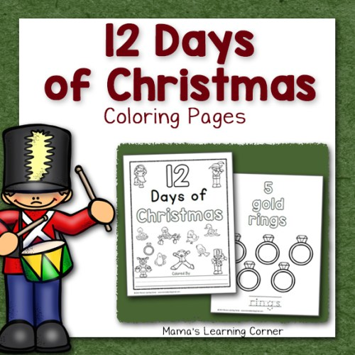 12 Days of Christmas Coloring Pages
