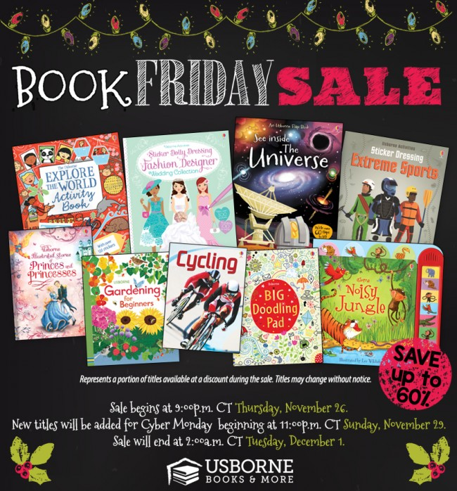 Usborne Books and More Book Friday and Cyber Monday