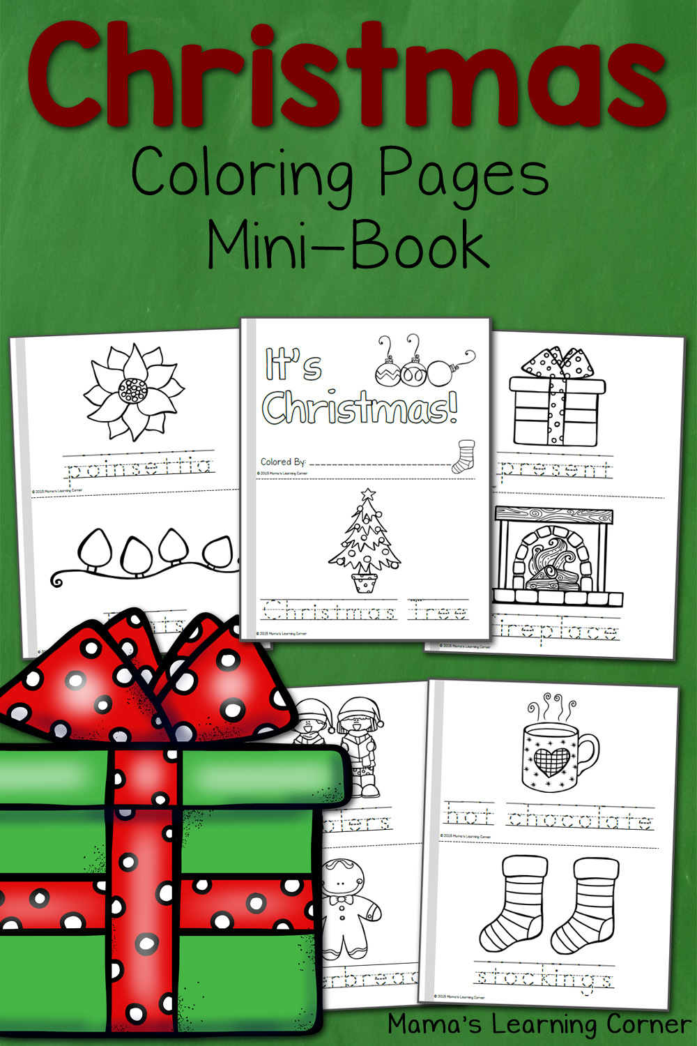 Christmas Coloring Pages (+writing papers) {Holiday Coloring Pages} | 1500x1000