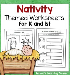 Nativity Worksheets for Kindergarten and First Grade - Mamas Learning Corner [ 1152 x 1152 Pixel ]