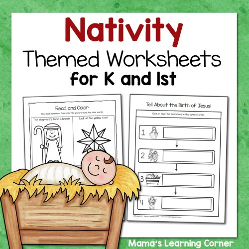 small resolution of Nativity Worksheets for Kindergarten and First Grade - Mamas Learning Corner
