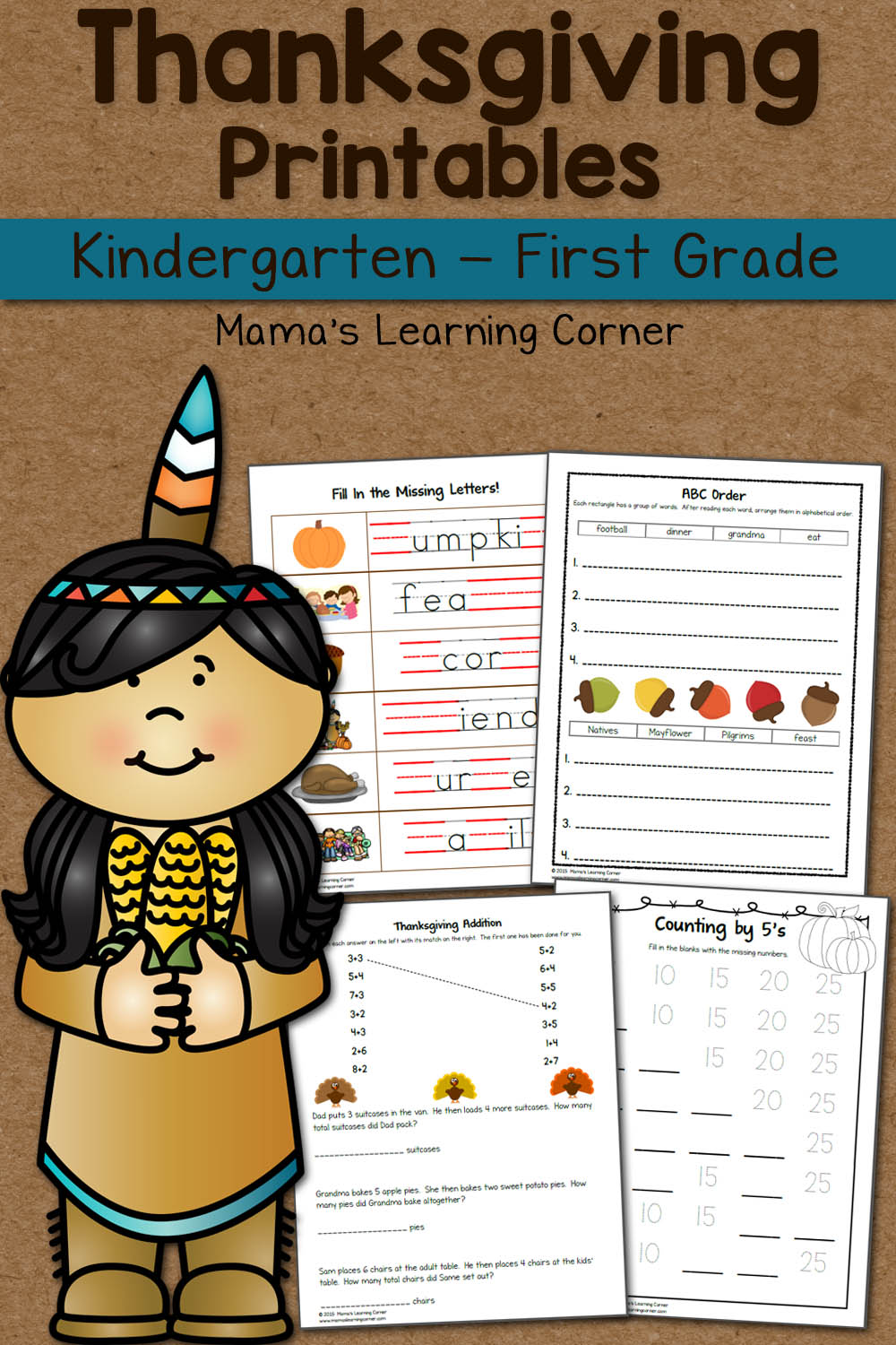 medium resolution of Thanksgiving Worksheet Packet - Mamas Learning Corner