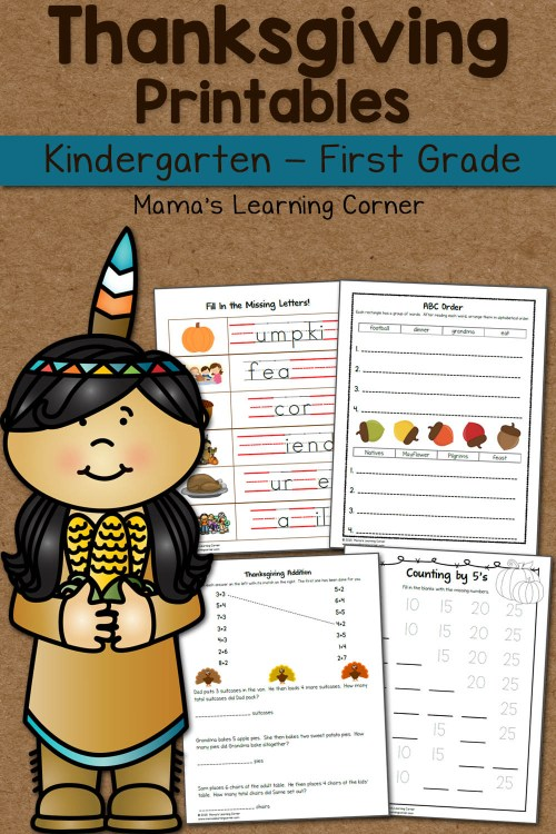 small resolution of Thanksgiving Worksheet Packet - Mamas Learning Corner