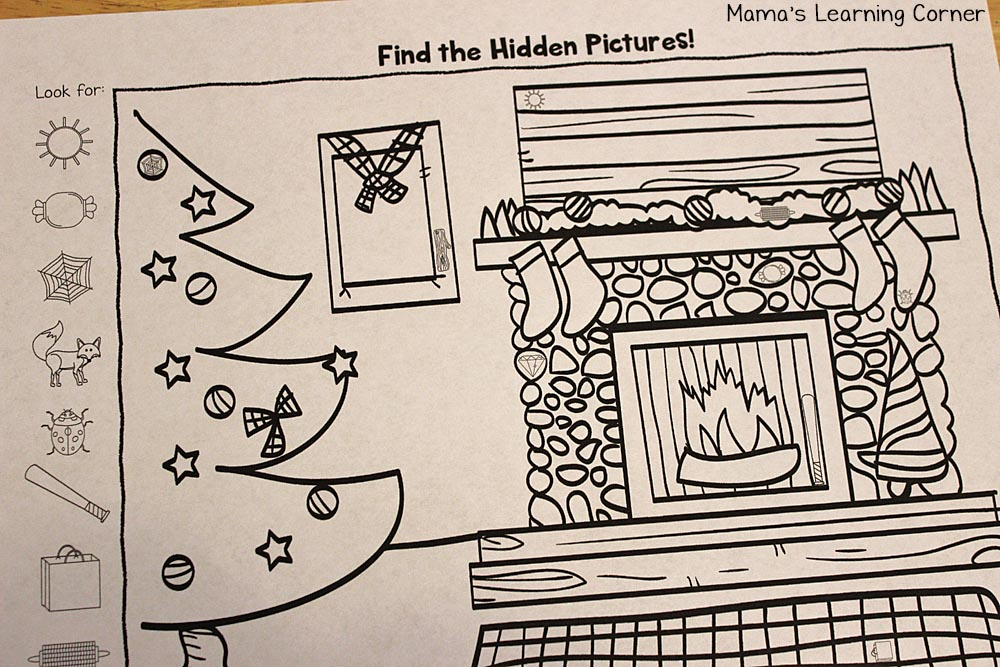Christmas Hidden Picture Printable