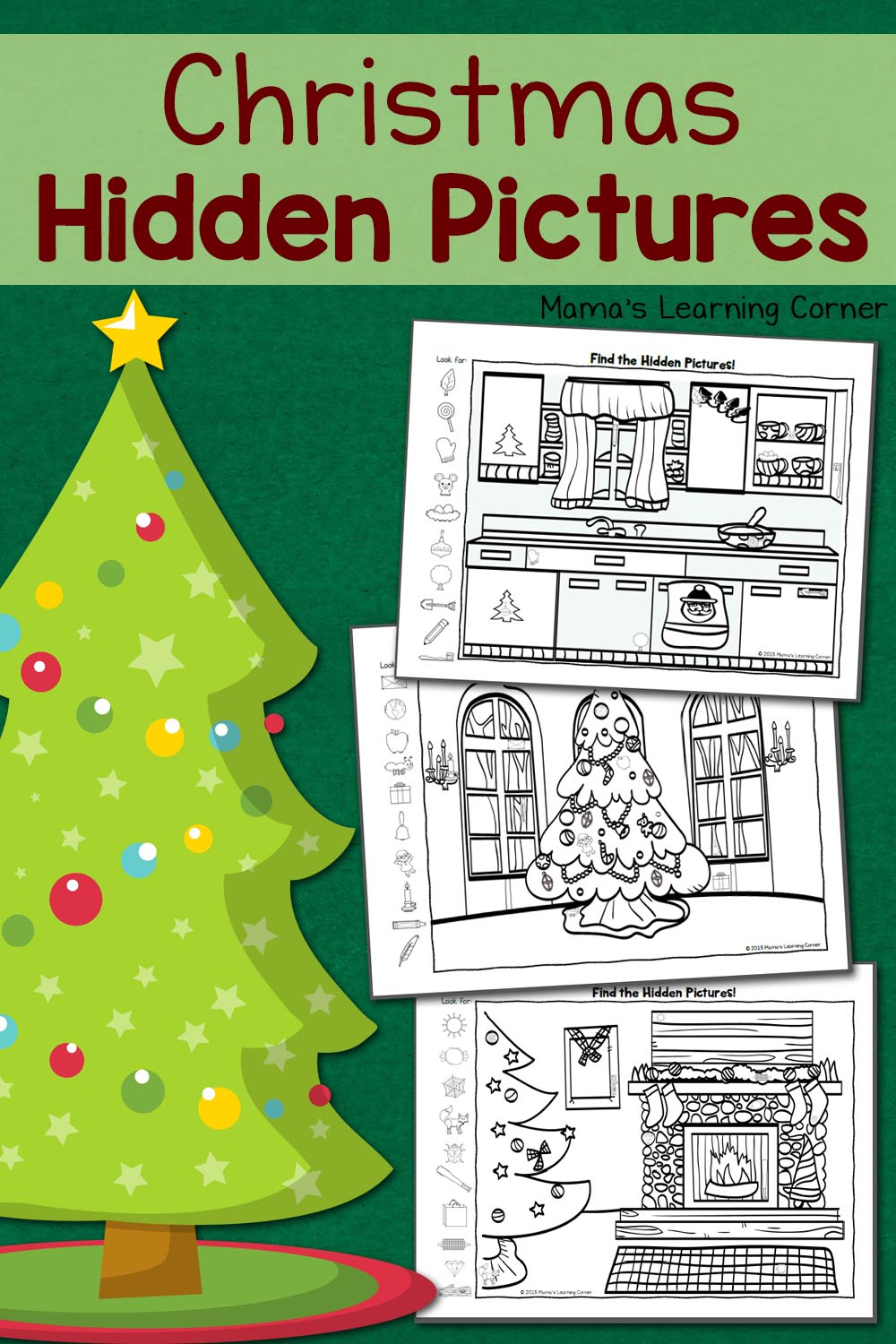 medium resolution of Christmas Hidden Pictures Worksheets - Mamas Learning Corner