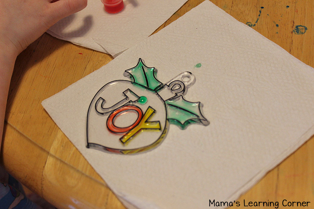 We're not having a Pinterest Perfect Crafty Christmas: JOY sun catcher