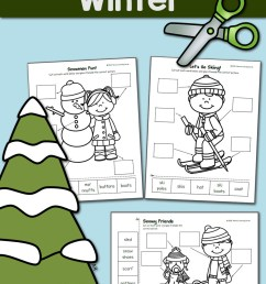 Winter Label the Picture: Cut and Paste! - Mamas Learning Corner [ 1500 x 1000 Pixel ]