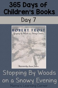 Stopping By Woods on a Snowy Evening – Day 7 of Children's Books