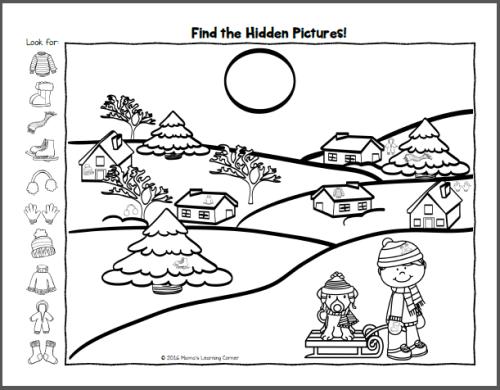 Hidden Picture Worksheets