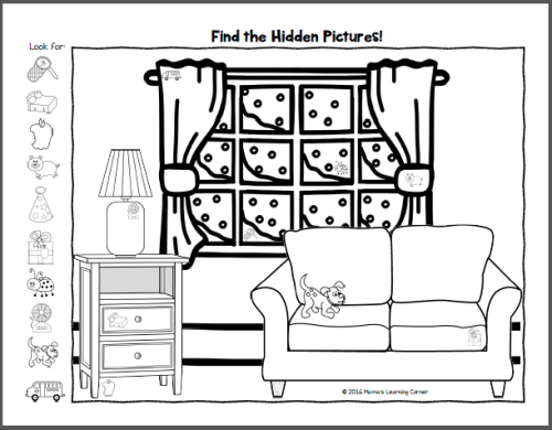 Hidden Picture Worksheets