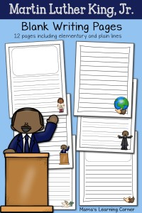 Martin Luther King Writing Pages