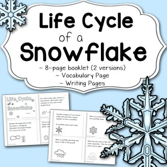 Snowflake Life Cycle Printable Booklet; available in 2 versions