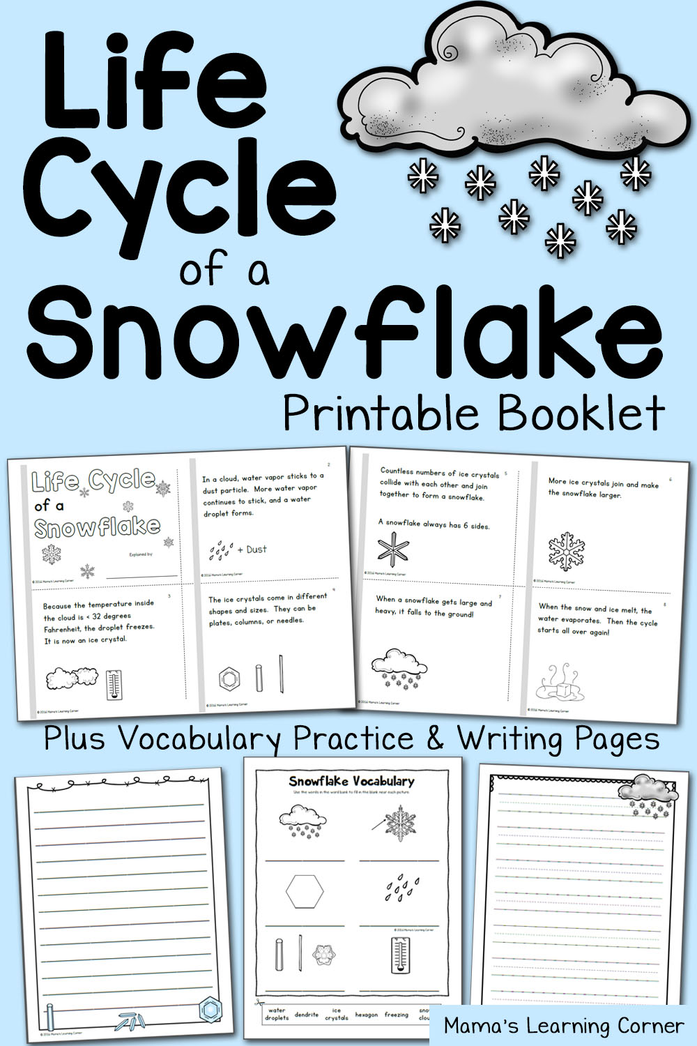 medium resolution of Life Cycle of a Snowflake Booklet - Mamas Learning Corner