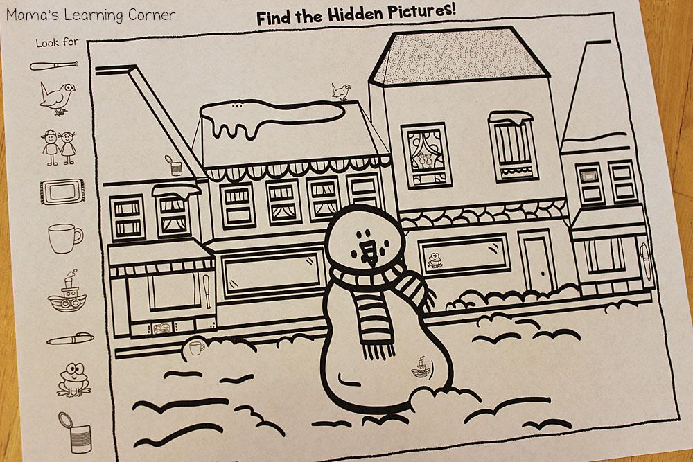 Snowman Hidden Pictures Set