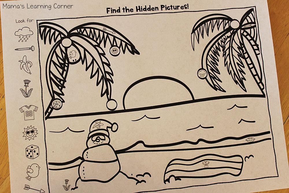Snowman Hidden Pictures