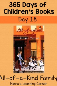 All of a Kind Family – Day 18 of 365 Days of Children's Books