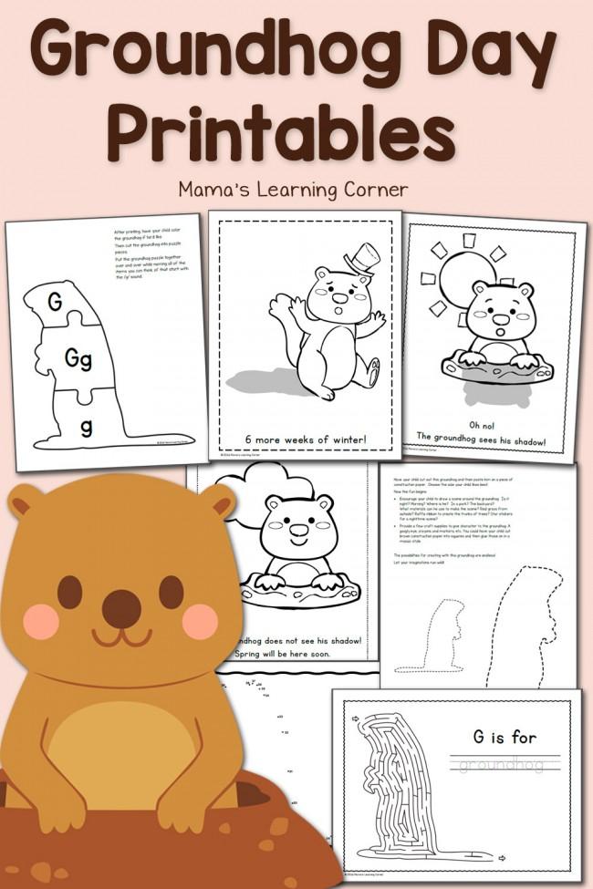 Free Groundhog Day Printables!
