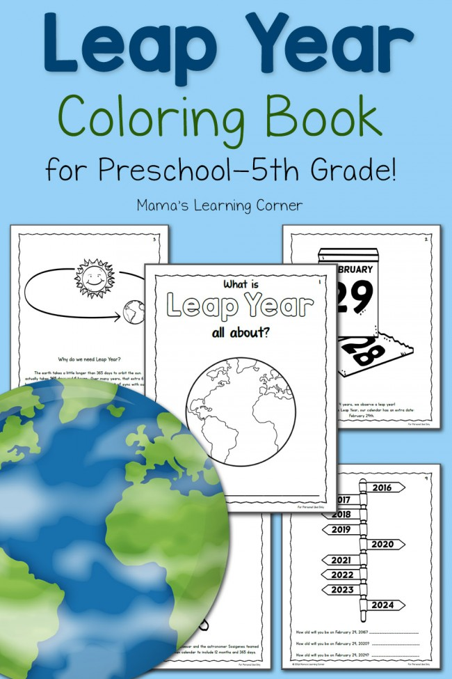 Leap Year Coloring Book for Kids - For Preschool - 5th Grade!
