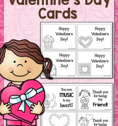 Printable Valentine's Day Cards - Mamas Learning Corner [ 1500 x 1000 Pixel ]