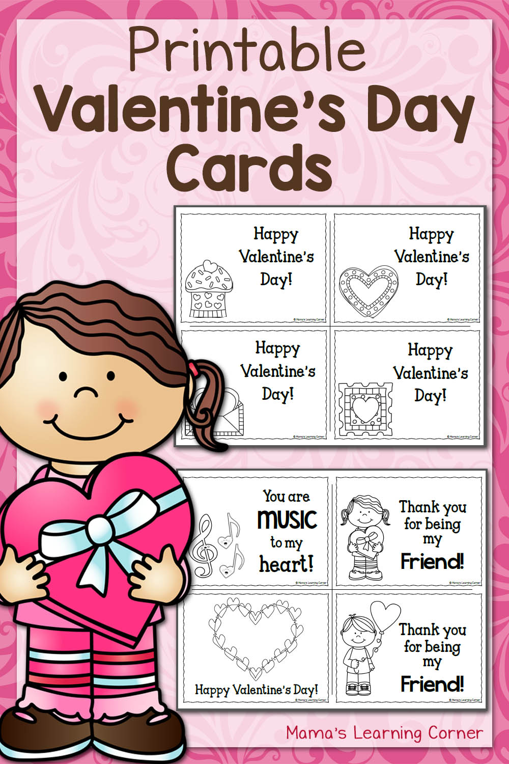 hight resolution of Printable Valentine's Day Cards - Mamas Learning Corner