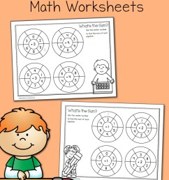 Simple Addition Wheels: Math Worksheets - Mamas Learning Corner [ 1400 x 1000 Pixel ]