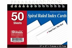 Spiral Index Cards